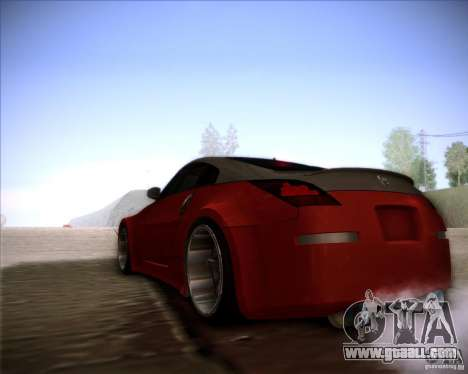Nissan 350Z AdHoc for GTA San Andreas right view