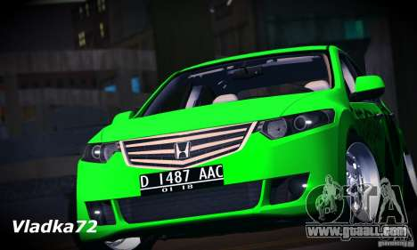 Honda Accord Angry Birds for GTA San Andreas