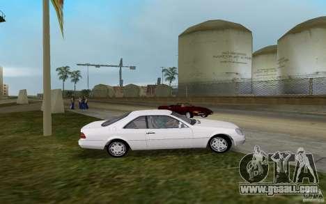 Mercedes-Benz 600SEC (C140) 1992 for GTA Vice City left view