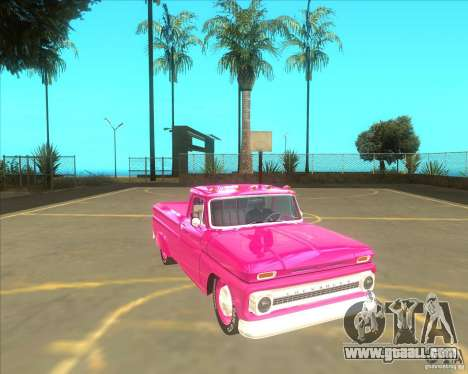 Chevrolet C10 1966 Slamvan Pickup Truck for GTA San Andreas right view