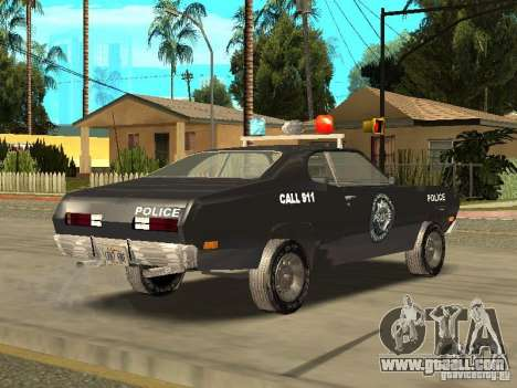 Plymout Duster 340 POLICE v2 for GTA San Andreas back left view