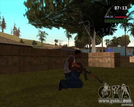 AK-47 with bayonet for GTA San Andreas second screenshot