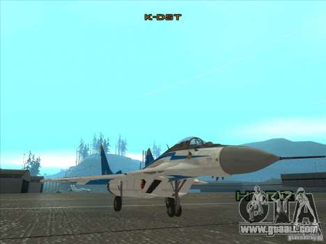 MiG-29 the Swifts for GTA San Andreas left view