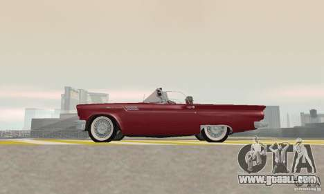 Ford Thunderbird 1957 for GTA San Andreas back view