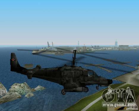 Ka-50 for GTA Vice City back left view
