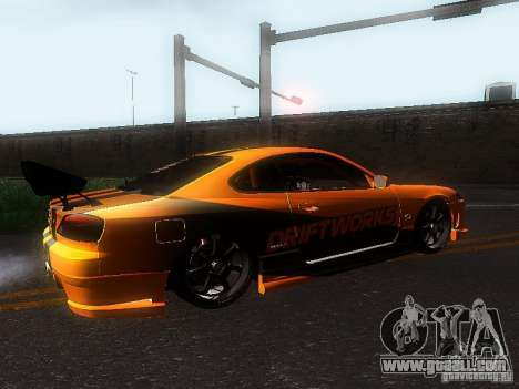 Nissan Silvia S15 ODT for GTA San Andreas back view