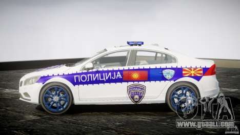 Volvo S60 Macedonian Police [ELS] for GTA 4 left view