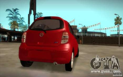 Nissan Micra 2011 for GTA San Andreas left view