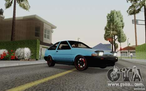 Toyota Corolla AE86 for GTA San Andreas back left view