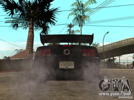 Ford Mustang GT Razor NFS MW for GTA San Andreas back left view