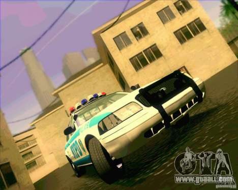Ford Crown Victoria 2003 NYPD police V2.0 for GTA San Andreas back view