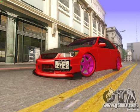 Toyota Altezza Drift Style v4.0 Final for GTA San Andreas upper view