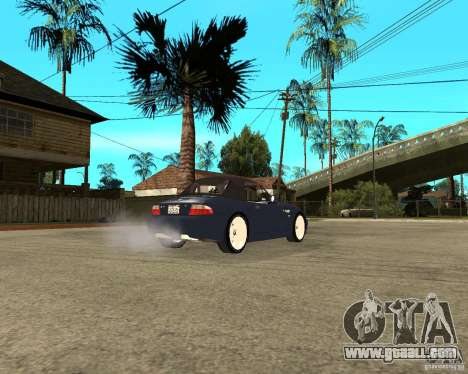 BMW Z3 Roadster for GTA San Andreas back left view