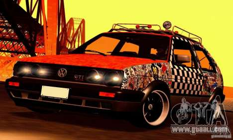 Volkswagen MK II GTI Rat Style Edition for GTA San Andreas back view