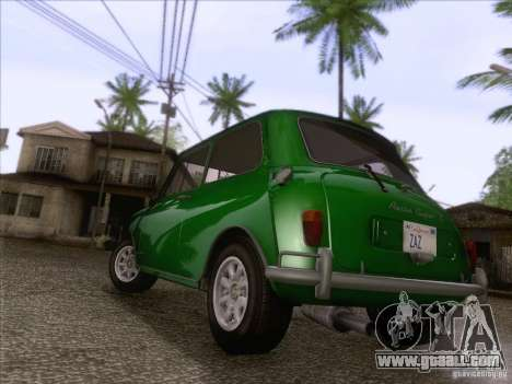 Austin Cooper S 1965 for GTA San Andreas back left view