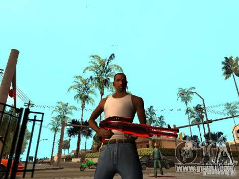 Red Chrome Weapon Pack for GTA San Andreas forth screenshot