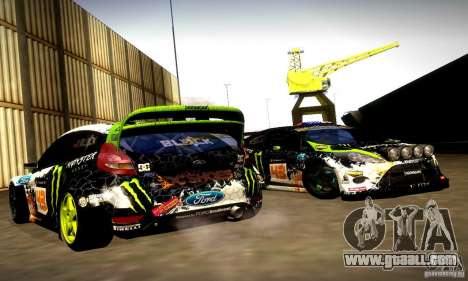 Ford Fiesta Gymkhana 5 for GTA San Andreas side view