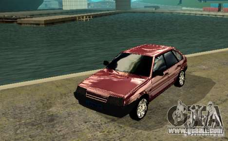 Vaz 2109 chrome for GTA San Andreas