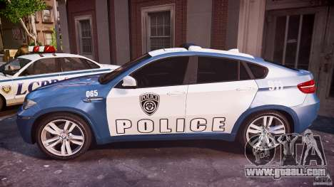 BMW X6M Police for GTA 4 left view