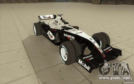 McLaren Mercedes MP 4-19 for GTA San Andreas back view