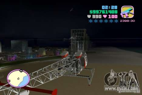 Bell 47 for GTA Vice City back left view