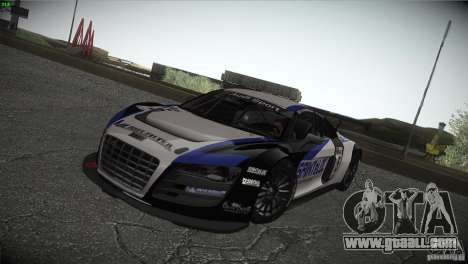 Audi R8 LMS for GTA San Andreas upper view