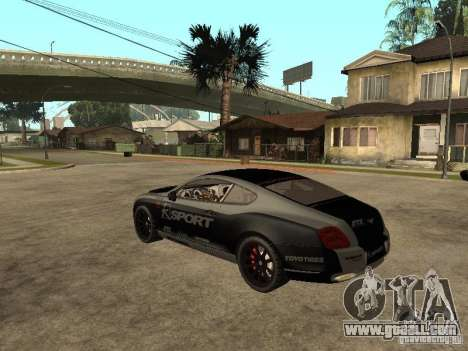 Bentley Continental SS Skin 4 for GTA San Andreas left view