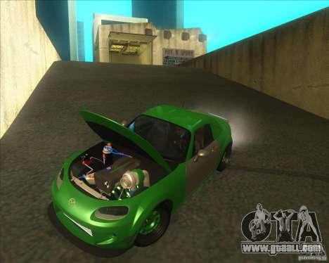 Mazda Miata MX-5 Konguard 2007 for GTA San Andreas inner view