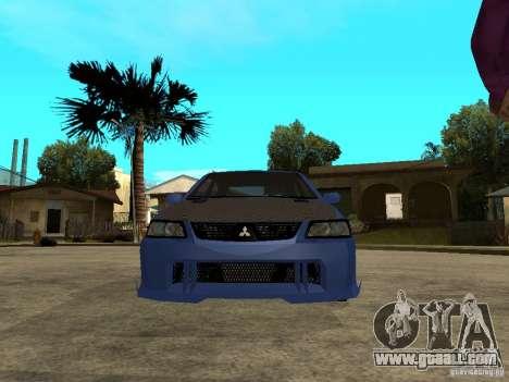 Mitsubishi Lancer EVO VIII Tuned for GTA San Andreas right view