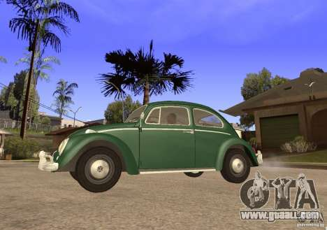 Volkswagen Beetle 1963 for GTA San Andreas back left view
