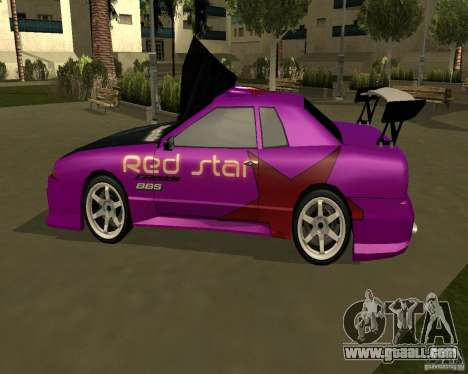 Red Star Design Vinyl for GTA San Andreas left view