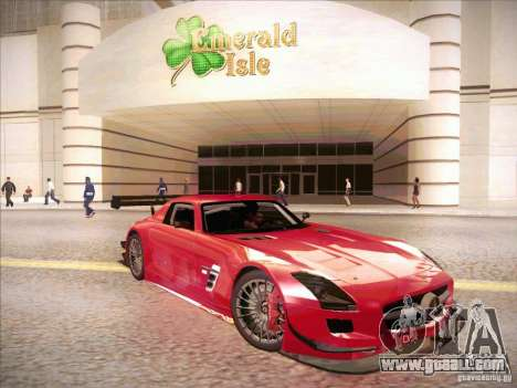 Mercedes-Benz SLS AMG GT-R for GTA San Andreas back left view