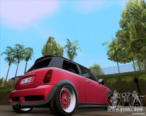 Mini Cooper S Euro for GTA San Andreas left view
