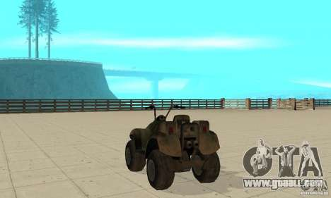 ATV from TimeShift for GTA San Andreas back left view
