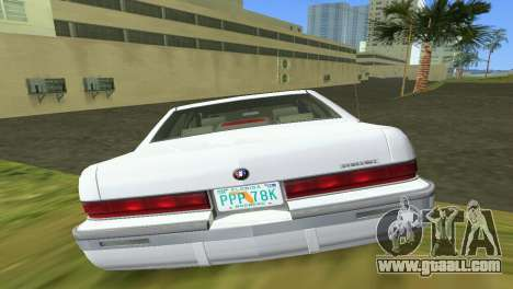 Buick Roadmaster 1994 for GTA Vice City inner view