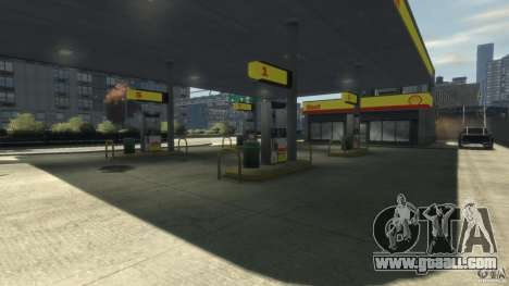 Shell Petrol Station for GTA 4 third screenshot