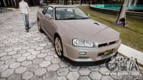Nissan Skyline GT-R R34 2002 v1 for GTA 4 back view