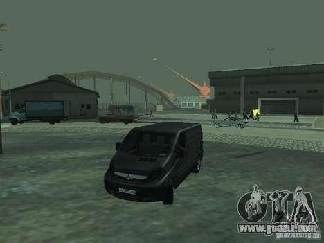 Vauxhall Vivaro v0.1 for GTA San Andreas bottom view
