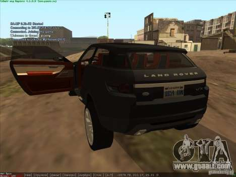 Land Rover Freelander for GTA San Andreas back left view