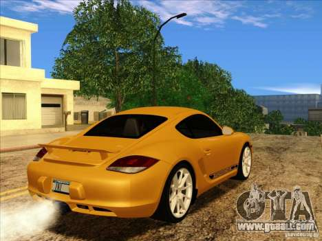 Porsche Cayman R 987 2011 V1.0 for GTA San Andreas back view