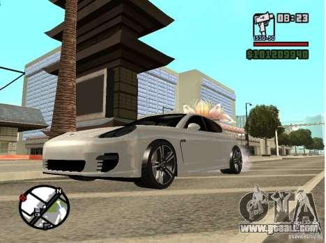 Porshe Panamera for GTA San Andreas left view