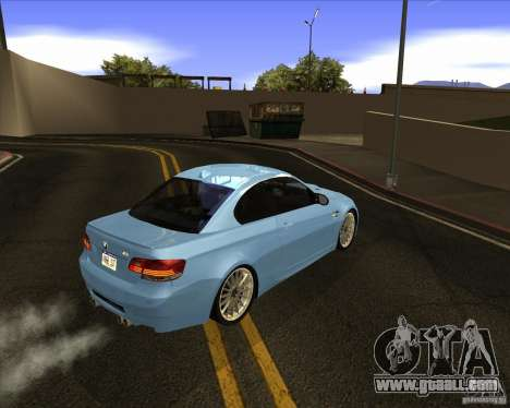 BMW M3 Convertible 2008 for GTA San Andreas right view