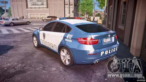 BMW X6M Police for GTA 4 back left view