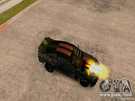 Ford Mustang Death Race for GTA San Andreas back left view