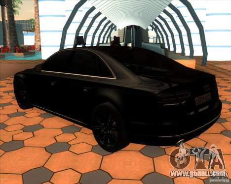 Audi A8 2010 v2.0 for GTA San Andreas back left view