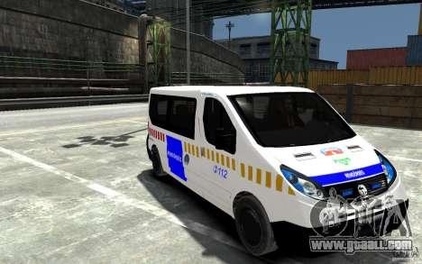 Opel Vivaro Hungarian Police Van for GTA 4 back view
