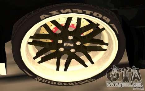 Mitsubishi Lancer Evolution X Monster Energy for GTA San Andreas bottom view