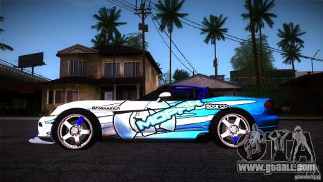 Dodge Viper Mopar Drift for GTA San Andreas left view