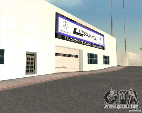 AMG showroom for GTA San Andreas forth screenshot