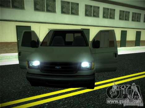 Ford E150 2000 for GTA San Andreas inner view